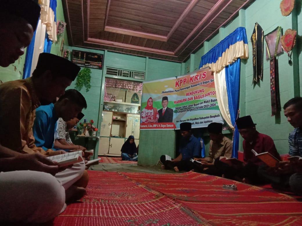 Harapkan Politik Santun di Bengkalis,Relawan Kasmarni-Bagus Gelar Yasinan Bersama