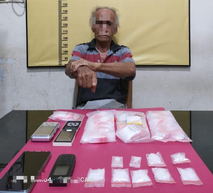 Resnarkoba Polres Kampar Kembali Tangkap 1 Pelaku dengan 9 Paket Shabu di Desa Sekijang