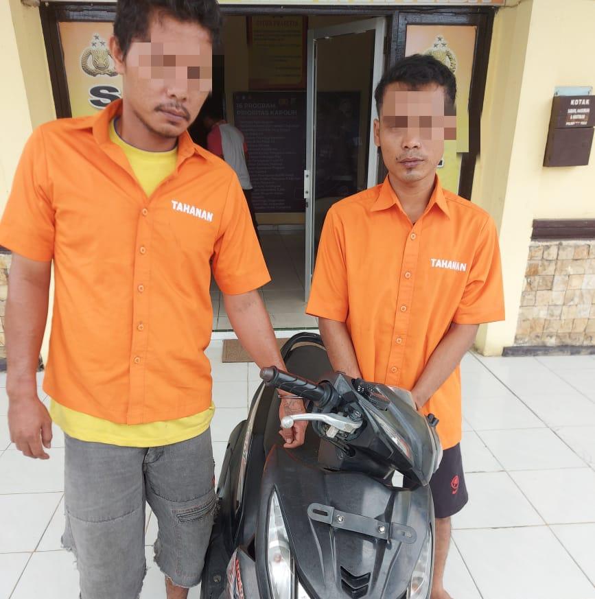 Unit Reskrim Polsek Tapung Hulu Tangkap 2 Pelaku Curanmor Saat Pesta Narkoba