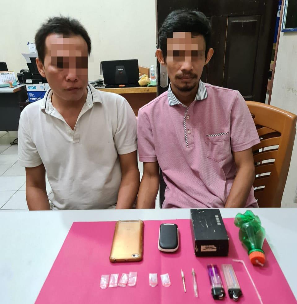 Tim Ojoloyo Resnarkoba Polres Kampar Tangkap 2 Tersangka di Desa Kubang Jaya Siak Hulu