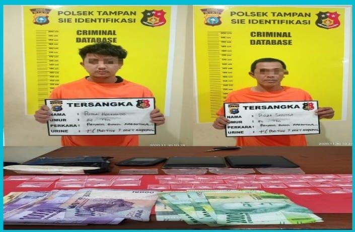 Polsek Tampan Tangkap Dua Pengedar Sabu Kampung Dalam