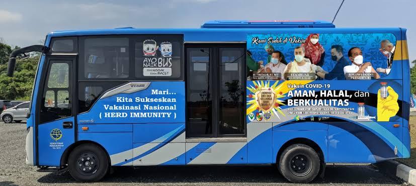 Kembali Beroperasi,Bus Vaksinasi Covid-19 Keliling Targetkan Lansia