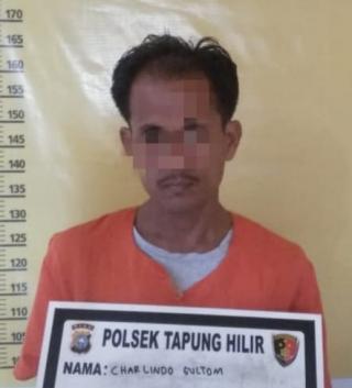 Polsek Tapung Hilir Tangkap Seorang Pengedar Shabu di Desa Tapung Makmur