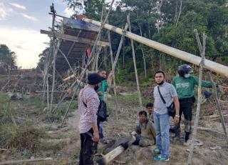 Pelaku PETI di Kuansing ditangkap Petugas Polsek Kuantan Hilir
