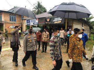 Kapolres Rohul Kunker Gubri Bersama Wagub Di Rokan IV Koto Aman Dan Lancar