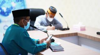 Wabup Lingga Neko Wesha pawelloy ikuti rapat pelepasan HPK dengan Kementerian LHK