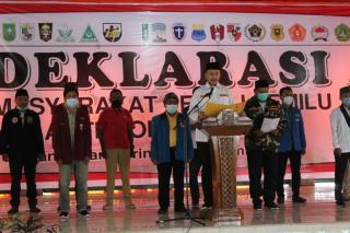 19 Organisasi Masyarakat dan Organisaai Kepemudaan Riau Deklarasi Anti Money Politic