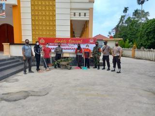 Polres Kuansing mengadakan Apel bersama dan Bakti Sosial dalam Rangka memperingati HUT BHAYANGKARA k