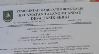 Pemecatan rt 04 rw 02 Dsn1 Desa Tasik Serai diduga melanggar UU No30 Thn 2014