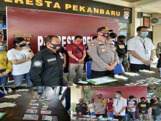 Operasi Kontijensi Aman Nusa ll,76 Orang Pengunjung Hiburan malam Diamankan Polresta Pekanbaru