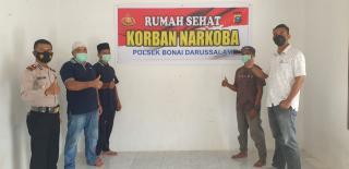 Rumah Sehat Narkoba Polsek Bonai Darussalam,Program IPTU Suheri Sitorus Kreatif Dan Inovatif