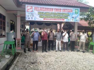 PT IVOMAS TUNGGAL Bersama Muspida kabupaten Siak, Laksanakan Swab Antigen Covid 19
