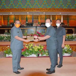 Rapat Perdana DPRD Provinsi Di Pimpin Ketua Yulisman Didampingi Agung Nugroho