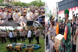 Tinjau Kesiapan Riau Dalam Tangani Karhutla Covid19,Kabaharkam Polri Pimpin Apel
