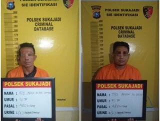 Dua tersangka Penadah Barang Hasil Curian Diamankan Polsek Sukajadi.