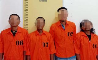 Polsek Tapung Amankan 4 Pelaku Judi Domino di Sebuah Warung di Desa Petapahan