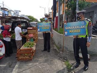 Polres Kampar Terus Himbau dan Lakukan Pendisiplinan Protokol Kesehatan Terhadap Masyarakat