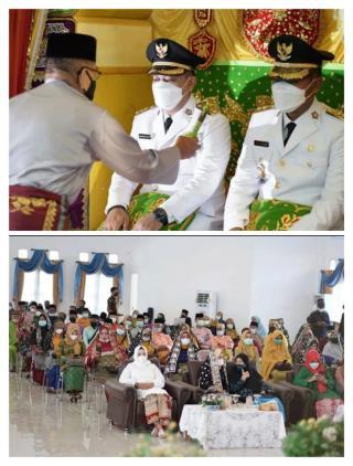 Tradisi Penghormatan dan Penyambutan Bupati dan wakil Bupati lingga Usai Dilantik.