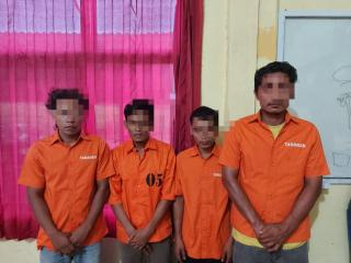 Polsek Tapung Hulu Tangkap 4 Pelaku Narkoba,2 Diantaranya Juga Pelaku Curanmor