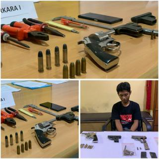 Simpan Senjata Api Ilegal di Tangkap Polisi