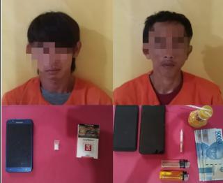 2 Pelaku Narkoba Diringkus Polsek Tapung Hilir pada 2 TKP di Desa Kota Bangun