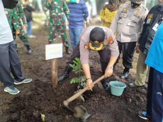 Peringati Hari Penanaman Pohon untuk Indonesia, Kapolsek Tapung Ikut Tanam Pohon Bersama Warga