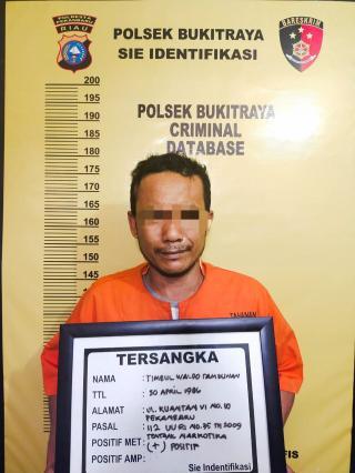 Sikat Penyalahgunaan Narkotika di Jalan Durian,diamankan Tim Opsnal Polsek Bukit Raya.