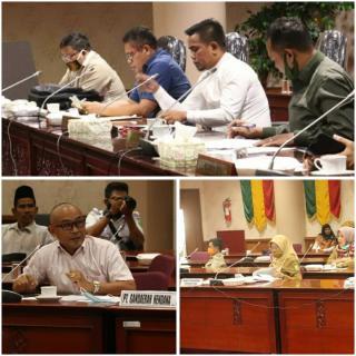 PEKANBARU,Komisi II DPRD Riau menggadakan Rapat Dengar Pendapat(RDP)Senin(27/07/2020)
