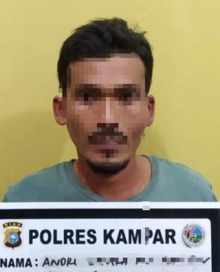 Lagi, Seorang Pengedar Shabu Ditangkap Resnarkoba Polres Kampar di Kel. Pulau Bangkinang