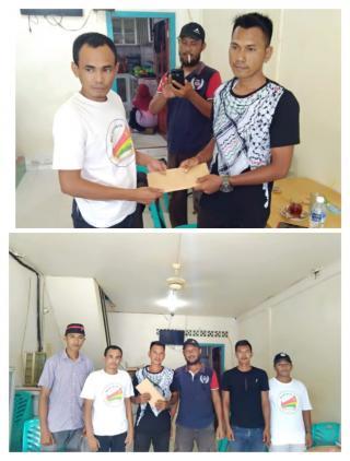 Jalin Tali asih terhadap sesama Himpunan melayu raya,Karang taruna dan relawan galang Dana