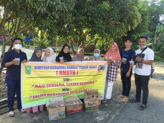 Himpunan Mahasiswa Rambah Tengah Barat,Bagikan Tadjil.