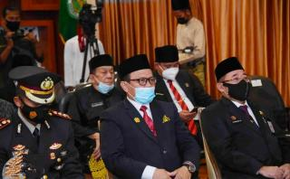 Ketua DPRD Bengkalis Hadiri Live Streaming Pelantikan Bupati dan Wakil Bupati Bengkalis