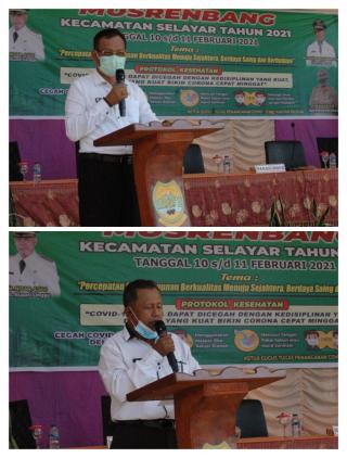 Musrenbang kecamatan Selayar 2021,Secara Resmi Dibuka Plt.Sekda lingga