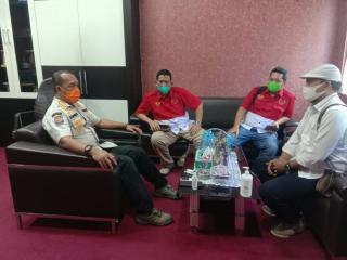 DPD PWRI Silaturahmi Dengan Satpol PP Provinsi Riau,Sekaligus Menyampaikan Informasi