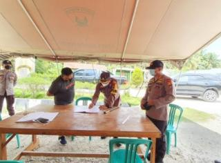 Kapolre Rohul,Kasat Brimobda b Polda Riau Dan Dandim 0313 Cek Kesiapan PSU Ke TPS-TPS