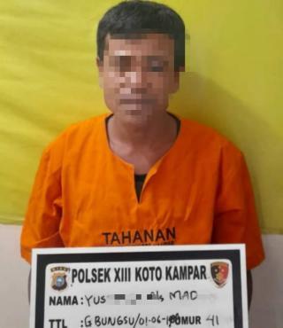Unit Reskrim Polsek XIII Koto Kampar Tangkap Pencuri Besi di Lokasi Pembangunan Sarang Walet