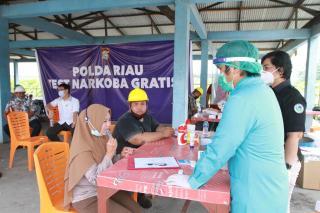 Gratis,Ditresnarkoba Polda Riau Lakukan Test Narkoba DiLingkup Tenaga Kerja